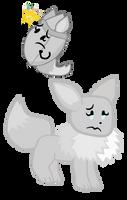 ShinyLeaf and Shiny Eevee by xXShinyLeafXx