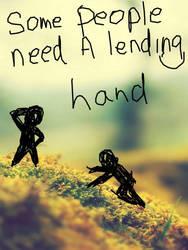 Lending a hand by luckykitty6