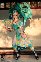Karma dancing with fans by MargaretCosplayArt