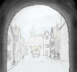 Tirian through gate by TheBalrog