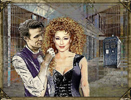 River Song and the Doctor - Her Nights by evisionarts