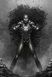 Iron Man Back to The Wall by dKeeNo44