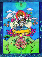 White Tara Thangka by LimbicSplitter