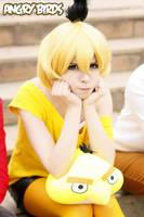 Yellow angry bird by Tenori-Tiger