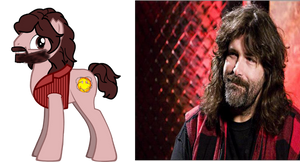 ponified Mick Foley by kuren247