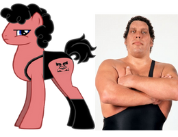 ponified andre the giant by kuren247