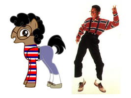 Steve Urkel ponified by kuren247