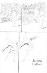 warrior lady vs man swordfight p1 by irate-velociraptor