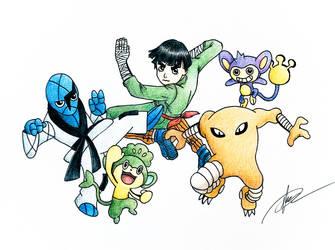 Naruto x Pokemon (Rock Lee) by goldprovip