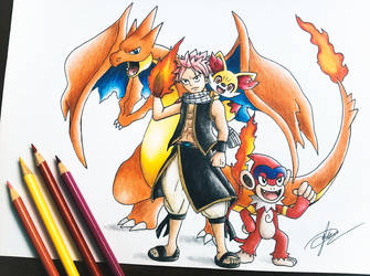 Fairy Tail x Pokemon (Natsu Dragneel) by goldprovip