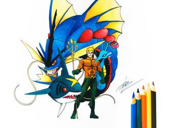 DC Comics x Pokemon (Aquaman) by goldprovip