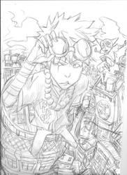 Tekkon sketch by therockerrabbit