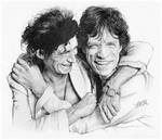 Keith Richards and Mick Jagger by FinAngel