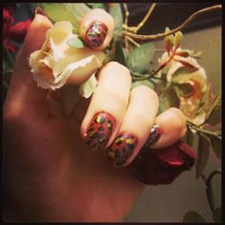 leopard nails 1 by dearie