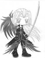 Chibi Sephiroth- KH II by SenseiAlicia