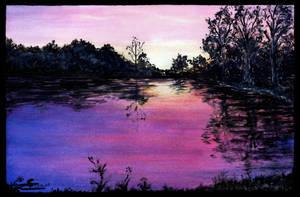 Lac au couchant by Stolvezen