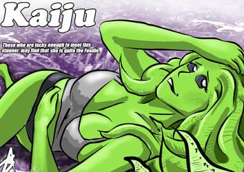 Kaiju Pinup by BjAtkinson