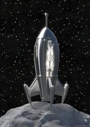 Classic spaceship designed for a magazine cover by zgodzinski