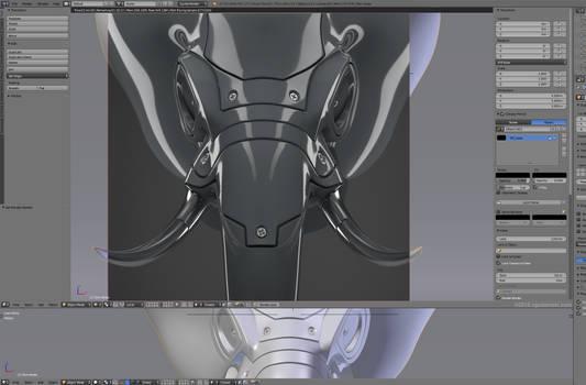 Hard surface elephant head, work in progress. by zgodzinski