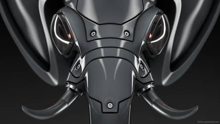Robot elephant head finished by zgodzinski