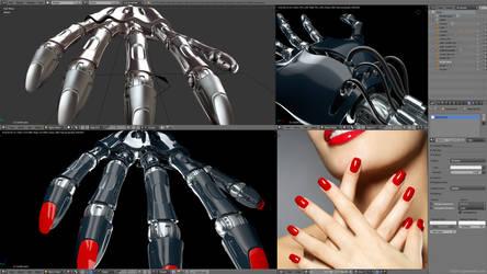 Female robot hand - work in progress by zgodzinski