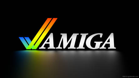 Hi-res Amiga logo (3840x2160) 4k wallpaper by zgodzinski