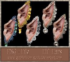 ELF-EARS-by-GothLyllyOn-Stock by GothLyllyOn-Sotck