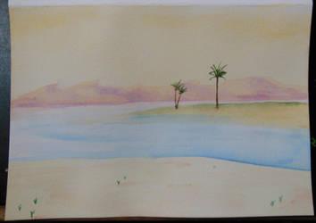 Desert Scene by ThatHatChick