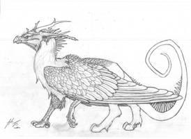 Dragon X Griffin hybrid by Dragonlover92