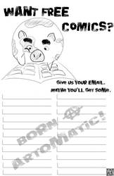 Pig Poster: Give Us Your Email! by IMoG-Comics
