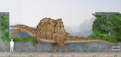 Spinosaurus by SameerPrehistorica