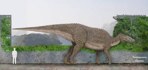 Shantungosaurus by SameerPrehistorica