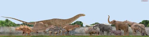 Dinosaurs vs Mammals by SameerPrehistorica
