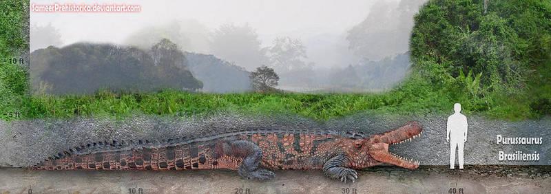 Purussaurus by SameerPrehistorica