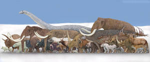 Snow animals by SameerPrehistorica