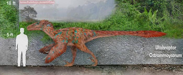 Utahraptor by SameerPrehistorica