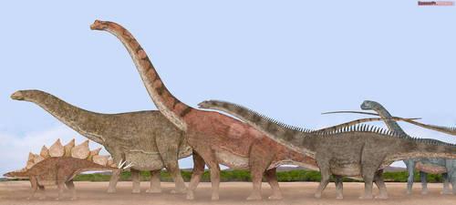 Jurassic Giants by SameerPrehistorica