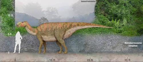 Muttaburrasaurus by SameerPrehistorica