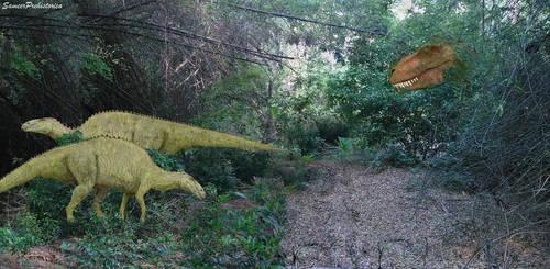Unlucky Edmontosaurus by SameerPrehistorica