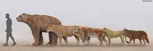 North American Predators by SameerPrehistorica