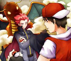 Secret Santa - Red VS Lance by OjaMaia