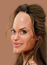 Angelina Jolie Caricature by danb13