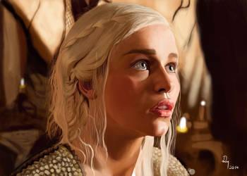 Game Of Thrones | Khaleesi Portrait by danb13