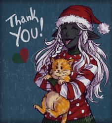Santa Wa'sila: THANK YOU! (gift) by LuuPetitek