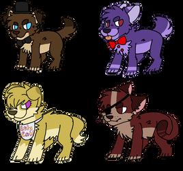 FNAF Kitten/Dog adoptables(CLOSED) by XxCatySnivyxX