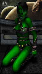 Star Trek - Orion Slavegirl by RazielKanos