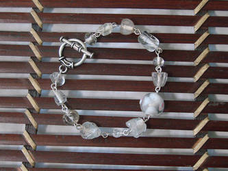 Broken Beads Need Love Too White and Silver by bornahorse