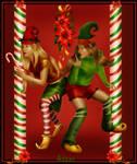Christmas elves by Adaae
