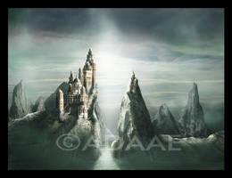 Silver blue horizon by Adaae