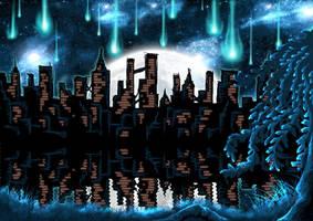 Meteor Shower by Cheekums89